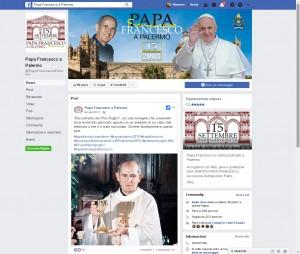 """Online la pagina facebook """"Papa Francesco a Palermo"""""""