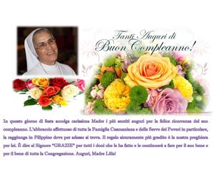 17 luglio, Compleanno della Rev.ma Madre Lilia Dominguez