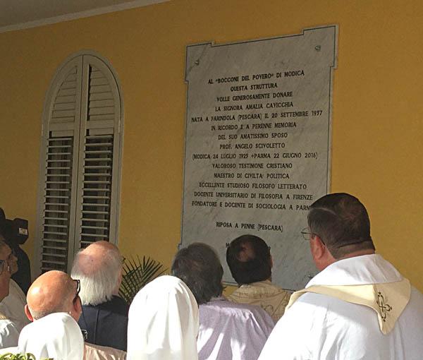 """Inaugurazione nuovo reparto della Casa di Riposo """"Boccone del Povero"""" di Modica"""