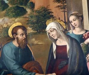Vincenzo Tamagni - L'incontro di San Gioacchino e Sant'Anna alla Porta Aurea - pieve di San Salvatore a Istia d'Ombrone